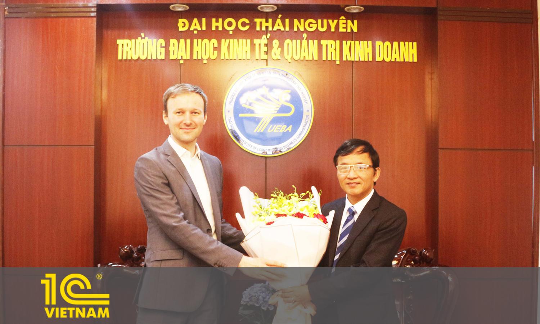 Lễ ký kết thỏa thuận hợp tác toàn diện giữa 1C Việt Nam và Trường đại học Kinh tế và Quản trị kinh doanh - Đại học Thái Nguyên